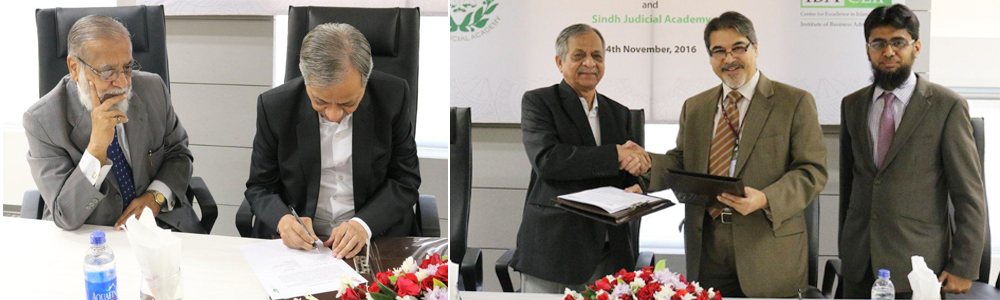Title: 4th Nov, 2016: IBA CEIF Signs MOU with the Sindh Judicial Academy