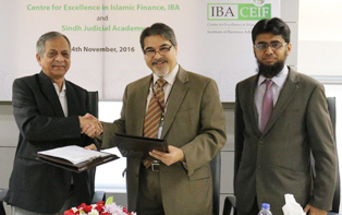4th Nov, 2016: IBA CEIF Signs MOU with the Sindh Judicial Academy
