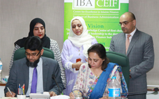 13 Feb, 2018: IBA CEIF signed an MoU with SECP for investors' education
