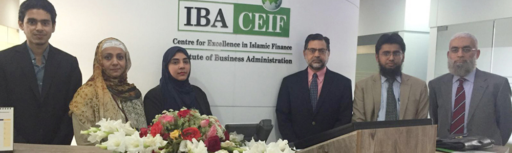 IBA CEIF hosted a Meeting; Dr. Zamir Iqbal from World Bank with representatives from Takaful Companies