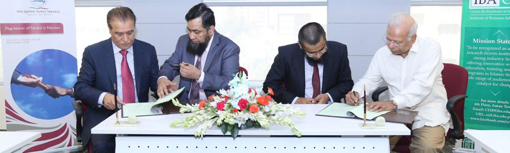 IBA Centre for Excellence in Islamic Finance signs MoU with Pak Qatar Family & General Takaful Limited