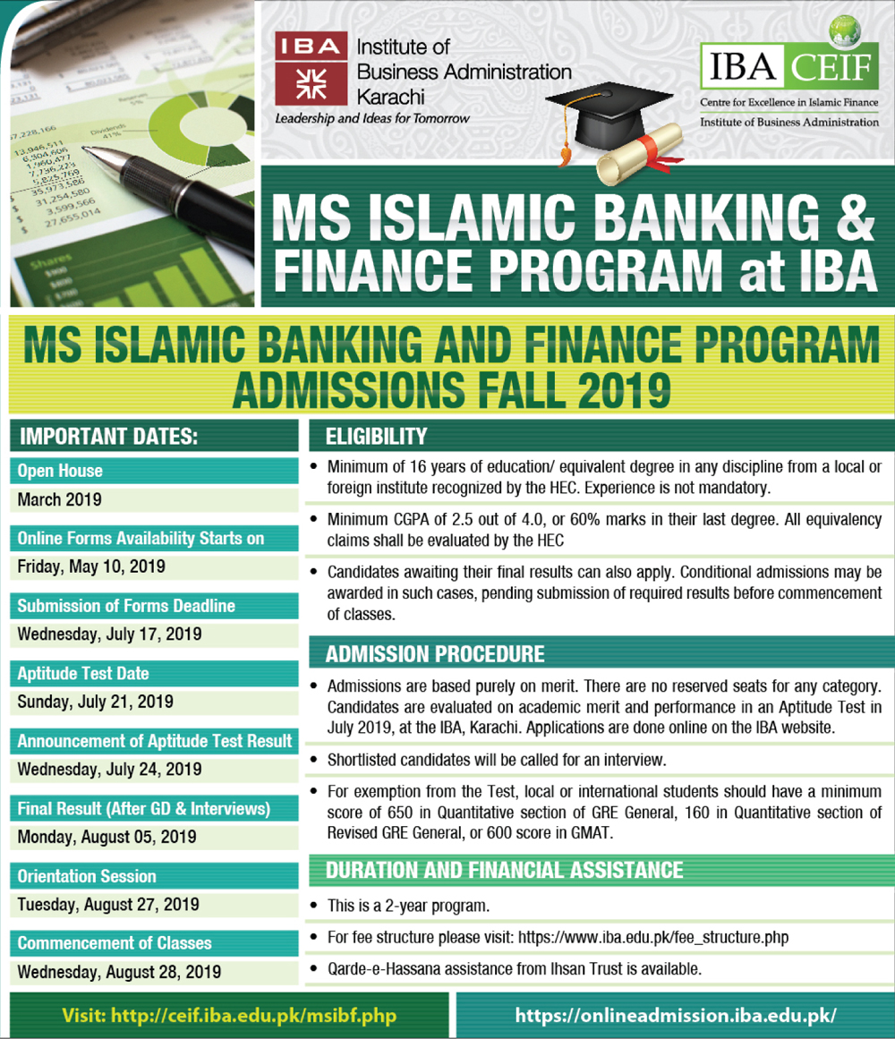 MS in Islamic Banking and Finance